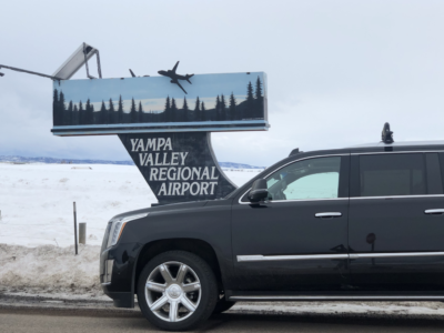 Private Luxury SUV ground transportation, Yampa Valley Regional Hayden Airport to Steamboat Springs